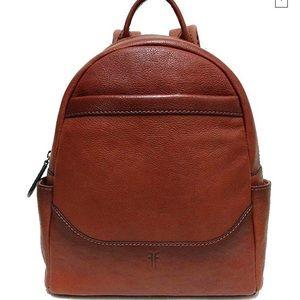 NWT Frye Front Slit Backpack in Cognac